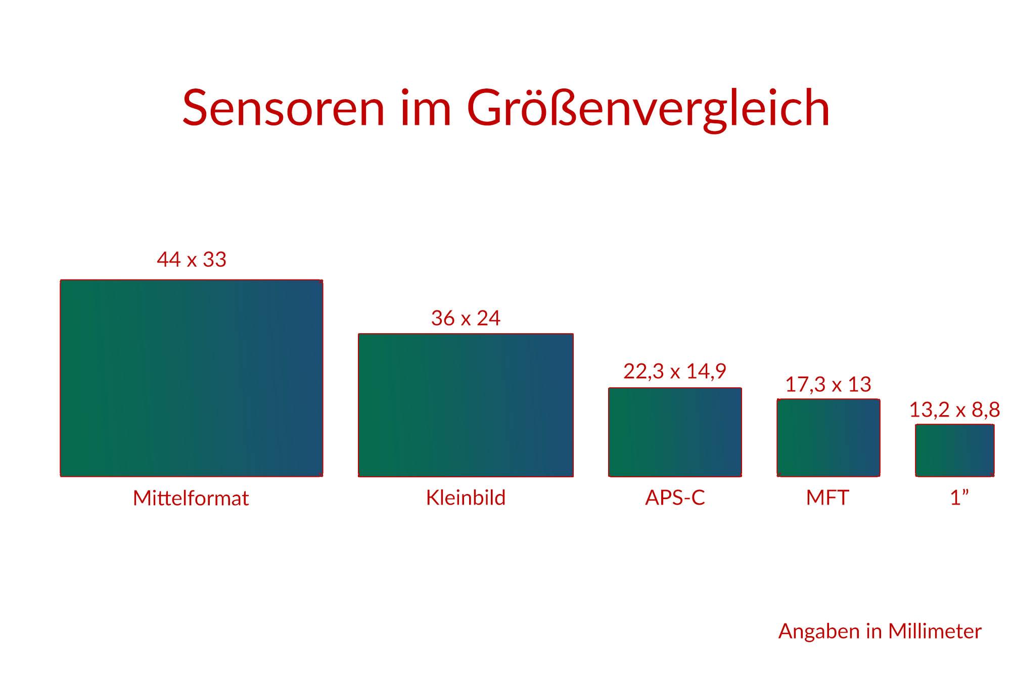 Sensoren - Mittelformat, Vollformat, APS-C, MFT